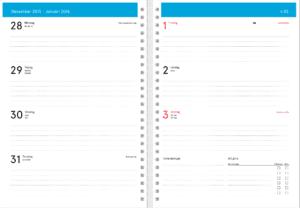 Personlig kalender inlaga